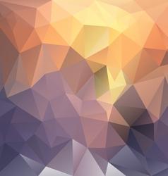 Sundown polygon triangular pattern background vector