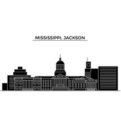 Usa mississippi jackson architecture city vector