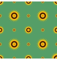 Abstract flowers on a green background vector image