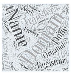 Transferring domain names word cloud concept vector