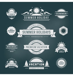 Retro summer design elements vector
