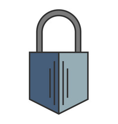 Padlock flat color icon of lock isolated object vector