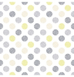 Seamless pattern polka dot texture in doodle style vector