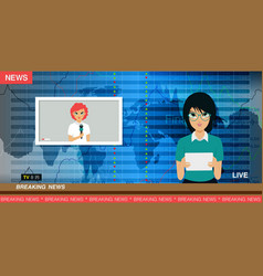 tv news reporter vector image