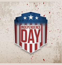 Retro realistic greeting card for independence day vector