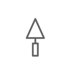Simple putty knife icon symbol and sign vector