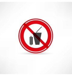 Beverages are prohibited icon vector