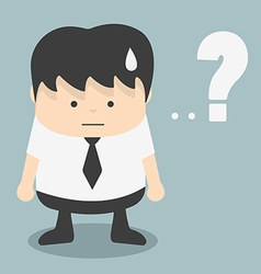 Businessman with question mark vector