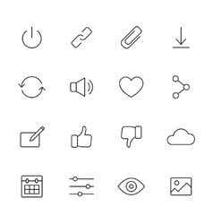 Basic interface icons vector
