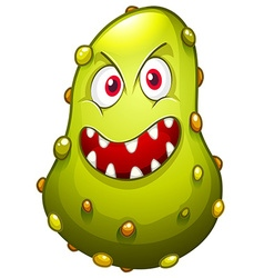 Bacteria with monster face vector