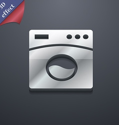 Washing machine icon symbol 3d style trendy modern vector
