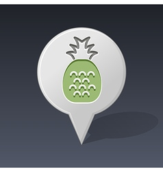 Pineapple pin map icon fruit vector