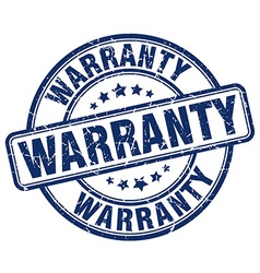 Warranty blue grunge round vintage rubber stamp vector