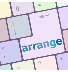 Arrange word on keyboard key notebook computer vector