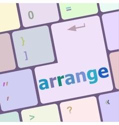 arrange word on keyboard key notebook computer vector image vector image