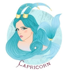 Astrological sign of Capricorn as a beautiful girl vector image