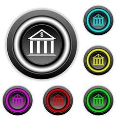 Bank buttons set vector