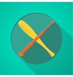 Baton flat color icon vector image vector image