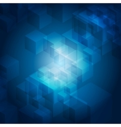 Blue abstract tech geometric background vector