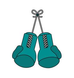 Boxing gloves design vector