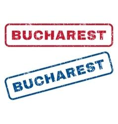Bucharest rubber stamps vector
