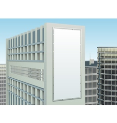 Building cityscape advertising site composition vector