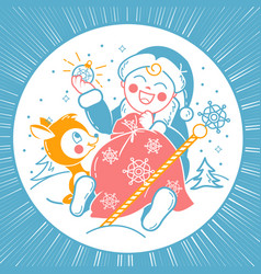concept of santa claus child vector image