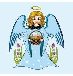 cute little angel vector image vector image