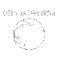 Globe Pacific view vector image