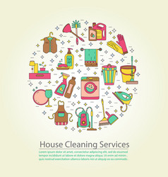 House cleaning card vector