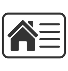 House info card flat icon vector