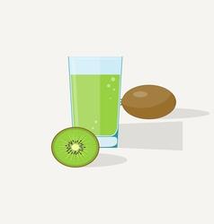 Kiwi Juice vector image