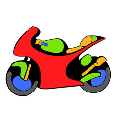 Motorcycle icon icon cartoon vector
