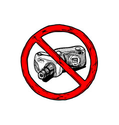 no photos sign vector image
