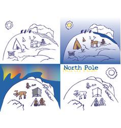 North pole chukchi vector