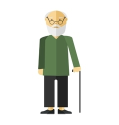 old man or grandfather vector image vector image