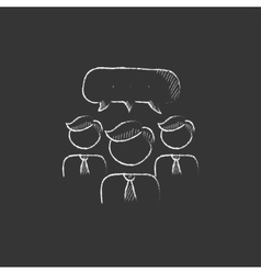 People with speech square above their heads Drawn vector image vector image