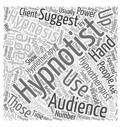 Stage hypnosis versus hypnotherapy text background vector
