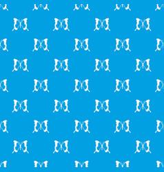 Swallowtail butterfly pattern seamless blue vector