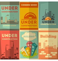 Under Construction Posters Design vector image