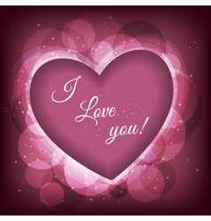 Valentines day frame background with heart vector image