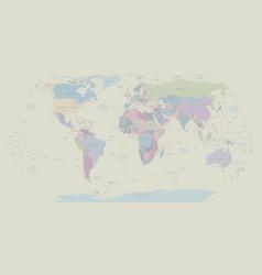 Vintage political world map eps 10 royalty free vector image gumiabroncs Images