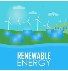 Renewable energy wind and sun generation vector