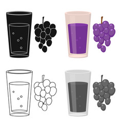 grape juice icon of for web vector image
