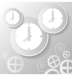 Abstract paper clock vector