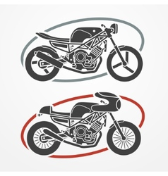 Two motorcycles vector