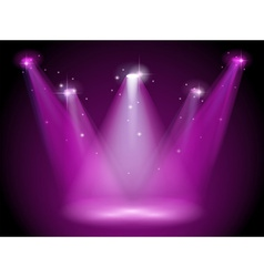 A purple stage vector
