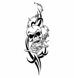 Tribal skull design vector