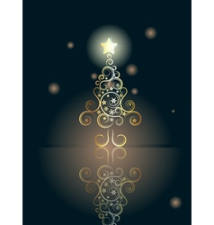 Card with Decorative Christmas Tree5 vector image