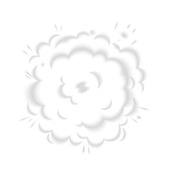 Isolated puffs of smoke vector